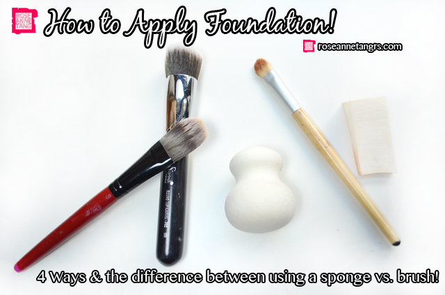 How to Apply Foundation – Using a Sponge vs. Make-up Brush, What's the Difference?